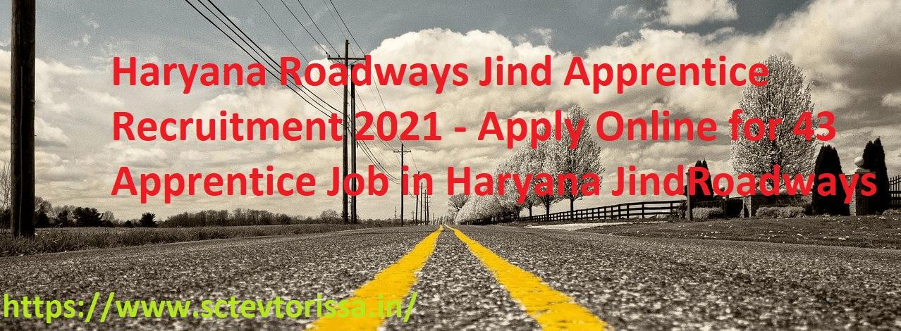 Haryana Roadwasy Jind Apprentice Recruitment