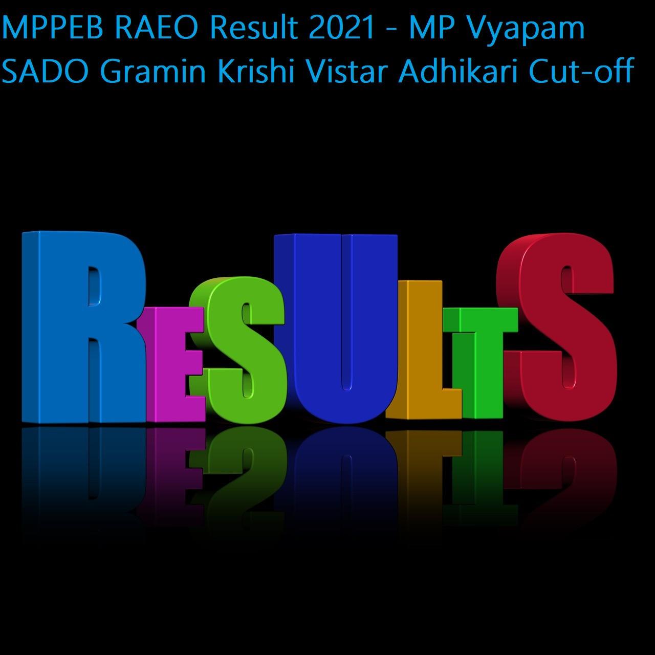 MPPEB RAEO Result