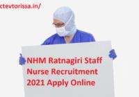 NHM Ratnagiri Staff Nurse Recruitment 2021