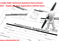 Punjab SSSB Technical Assistant Recruitment