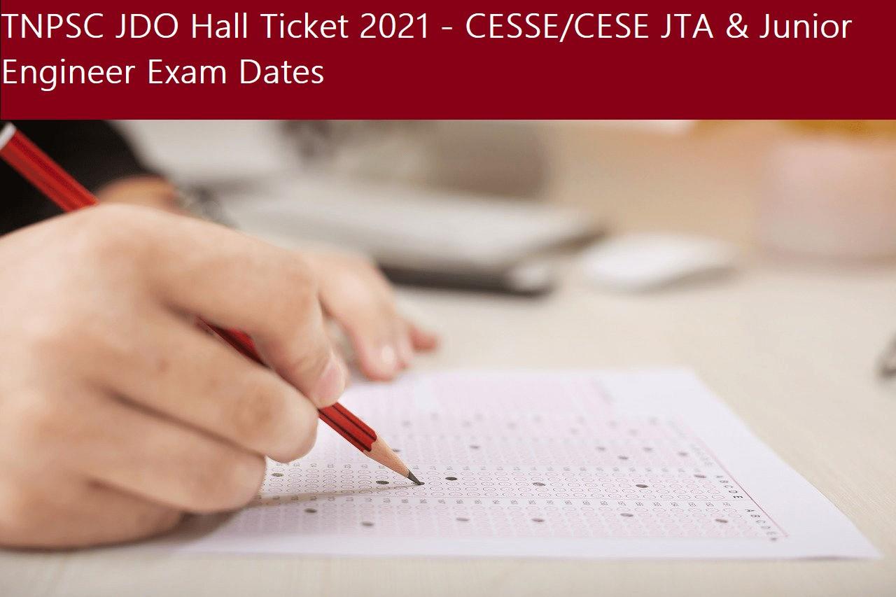 TNPSC JDO Hall Ticket