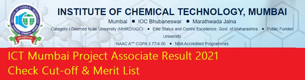 ICT Mumbai Project Associate Result
