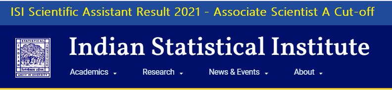 ISI Scientific Assistant Result