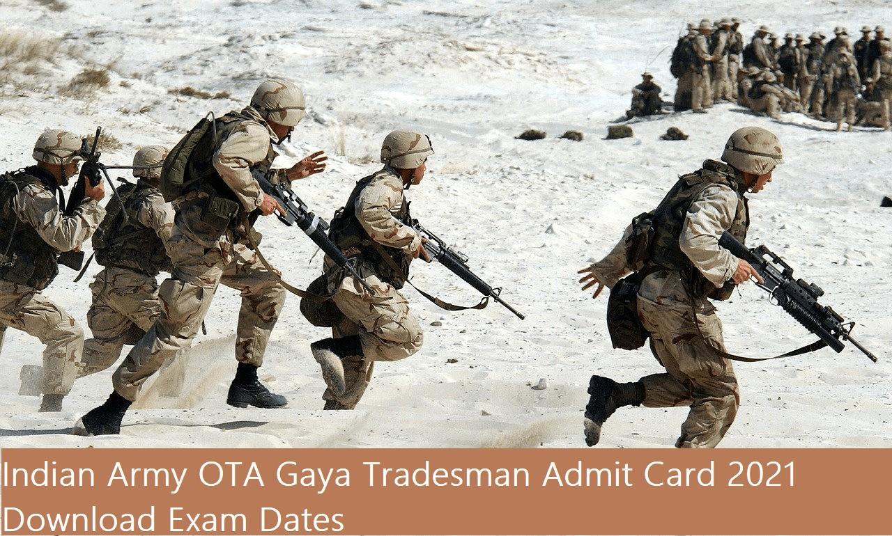 Indian Army OTA Gaya Tradesman Admit Card
