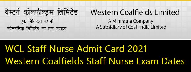 WCL Staff Nurse Admit Card