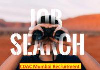 CDAC Mumbai Engineer Recruitment