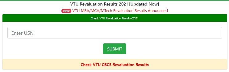 VTU Revaluation Results